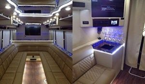 interior 30 passenger party bus rental